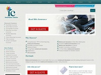 Insurancechoice , thumbnail or motorbike insurance , screen shot of laanding page
