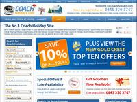 CoachHolidays.com screen shot